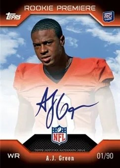 2011 Topps RC Premiere A.J. Green Autograph Card