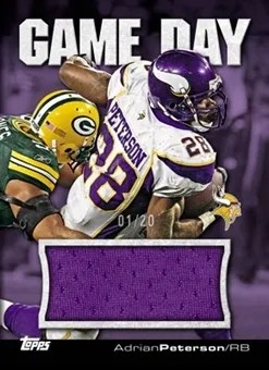 2011 Topps Game Day Adrian Peterson Jumbo Jersey Card