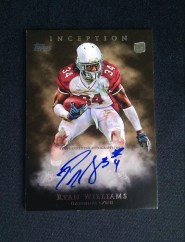 2011 Topps Inception Ryan Williams Autograph Rookie RC