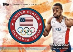 2012 Topps USA Olympics Tyson Gay Team Patch