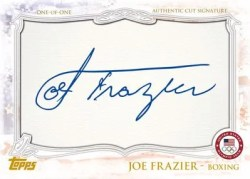 2012 Topps USA Olympics Joe Frazier Cut Autograph Card