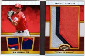 2011 Topps Triple Threads Ian Kinsler Jumbo Relic Patch