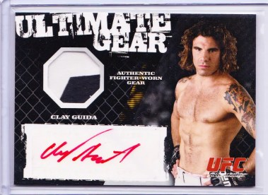 2009 Topps UFC Round 1 Ultimate Gear Auto Relic Card #/25