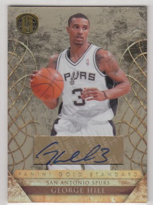 2010/11 Panini Gold Standard George Hill Autograph Card