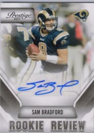 2011 Prestige Sam Bradford Rookie Review Autograph