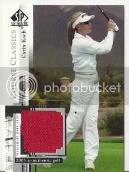 2005 Upper Deck SP Authentic Golf Course Classics Carin Koch Shirt Card