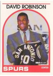 1989-90 NBA Hoops David Robinson Rookie RC