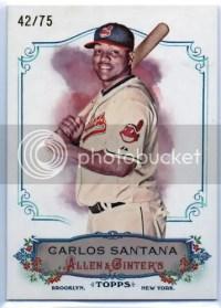 2011 Allen Ginter Carlos Santana Rip Card