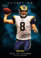 2011 Topps Inception Football Sam Bradford Base Card
