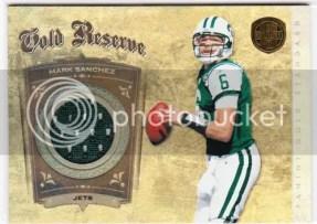2011 Panini Gold Standard Gold Reserve Mark Sanchez Jersey Card