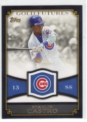 2012 Topps Series 1 Starlin Castro Gold Futures