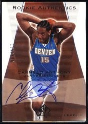 2003-04 Sp Authentic Carmelo Anthony Rookie Auto
