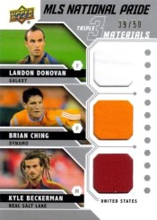 2011 Upper Deck Soccer Triple MLS National Pride Jersey