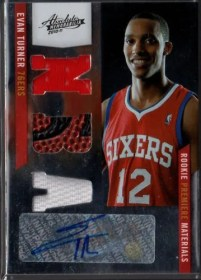 2010/11 Panini Absolute Memorabilia Evan Turner RPM Autograph Card