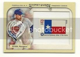 2011 Topps Gypsy Queen Nolan Ryan Stamp Relic /10