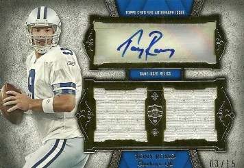 2011 Topps Supreme Autograph Dual Jersey Relic Tony Romo Card