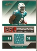 2011 Panini Absolute Daniel Thomas Rookie RC Cards