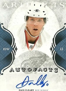 2011-12 Upper Deck Artifacts Dan Cleary Autofacts
