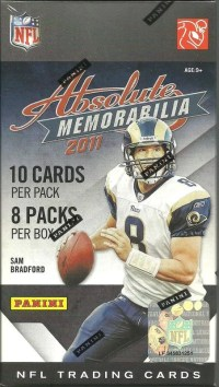 2011 Panini Absolute Memorabilia Football Retail Value Box