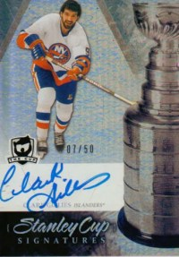 10-11 The Cup Clark Gillies Stanley Cup Signatures