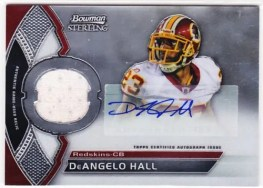 2011 Bowman Sterling DeAngelo Hall Autograph Jersey Card