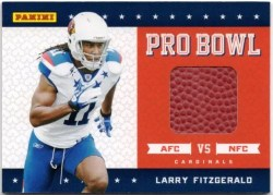 2011 Panini Black Friday Larry Fitzgerald Pro Bowl Ball