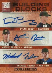 2011 Donruss Elite Triple Autograph Bundy/Bradley/Fulmer