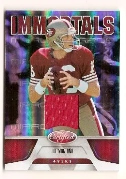 2011 Panini Certified Joe Montana Immortals Jersey