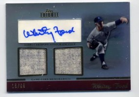 2011 Topps Tribute Whitey Ford Autograph Relic