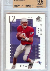 2000 Upper Deck SP Authentic Tom Brady RC Card