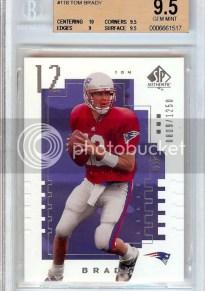 2000 Upper Deck SP Authentic Tom Brady RC Card