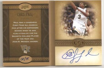 2011 Upper Deck Chris Paul Storybook Card Autograph