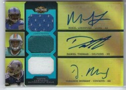 2011 Topps Triple Threads Auto Relic Combo