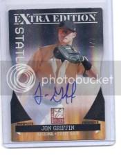 Jon Griffin 2011 Donruss Elite Jon Griffin 1/1 Autograph