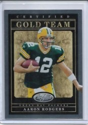 2011 Panini Certified Aaron Rodgers Gold Team