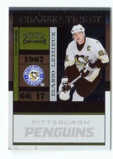 2010-11 Playoff Contenders Hockey Mario Lemieux Classics #108