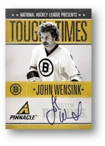 10-11 Pinnacle John Wensink Autograph Tough Times