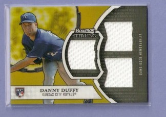 2011 Bowman Sterling Dual Relic Card #DD Danny Duffy