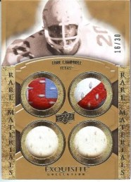 2010 Exquisite Rare Materials Earl Campbell Quad