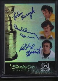 2010-11 UD The Cup Triple Stanley Cup Autographs