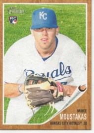 2011 Topps Heritage Mike Moustakas Rookie National /299
