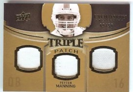 2010 Exquisite Peyton Manning Triple Patch