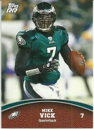 2011 Topps Rising Rookies Mike Vick Base Card