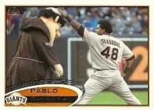 2012 Topps Series 1 Pablo Sandoval Sp Mascot