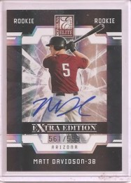 2009 Donruss Elite EEE Matt Davidson /599 Auto RC