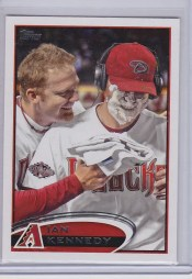 2012 Topps Series 1 Ian Kennedy Pie in Face