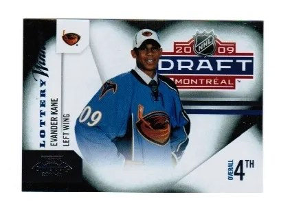 2010-11 Playoff Contenders Hockey Evander Kane Lottery Winners Insert Card #8