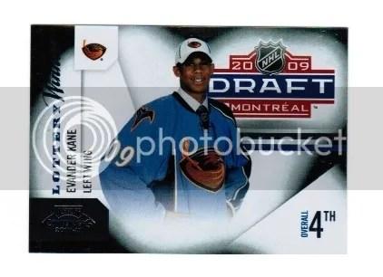 2010-11 Playoff Contenders Hockey Evander Kane Lottery Winners Insert Card #8