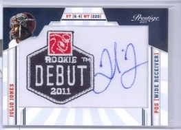 2011 Julio Jones Rookie Debut Patch Auto