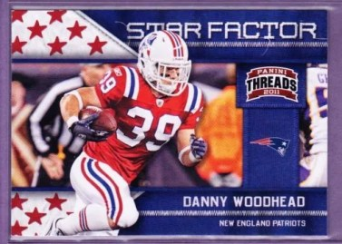 2011 Panini Threads Star Factor Danny Woodhead Insert Card #5